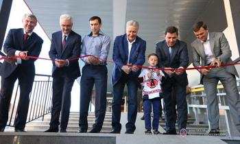 Hockey player Pavel Datsyuk who is a Ekaterinburg Ambassador at the 2018 FIFA World Cup opened  the Ice Palace in the capital of the Urals